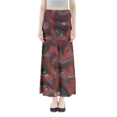 Red Grey 3d Design                                      Women s Maxi Skirt