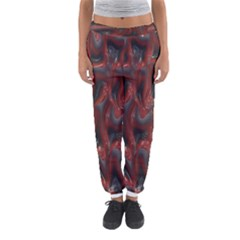 Red Grey 3d Design                                                                                    Women s Jogger Sweatpants by LalyLauraFLM