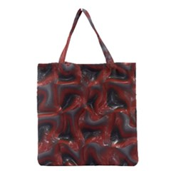 Red Grey 3d Design                                                                                    Grocery Tote Bag by LalyLauraFLM