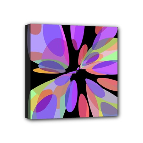 Colorful Abstract Flower Mini Canvas 4  X 4  by Valentinaart
