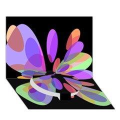 Colorful Abstract Flower Circle Bottom 3d Greeting Card (7x5)  by Valentinaart