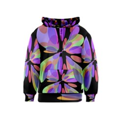 Colorful Abstract Flower Kids  Zipper Hoodie by Valentinaart
