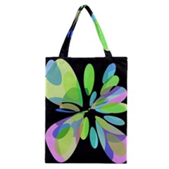 Green Abstract Flower Classic Tote Bag by Valentinaart