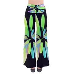 Green Abstract Flower Pants by Valentinaart