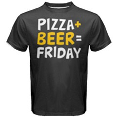 Pizza + Beer = Friday Men s Cotton Tee by Contest2494620