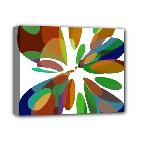 Colorful Abstract Flower Deluxe Canvas 14  X 11  by Valentinaart