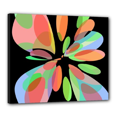 Colorful Abstract Flower Canvas 24  X 20  by Valentinaart
