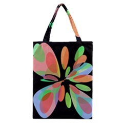 Colorful Abstract Flower Classic Tote Bag by Valentinaart