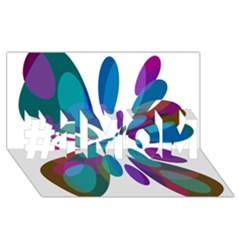 Blue Abstract Flower #1 Mom 3d Greeting Cards (8x4)