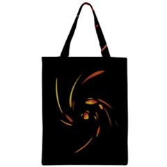 Orange Twist Zipper Classic Tote Bag by Valentinaart