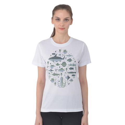 Underwater Women s Cotton Tee by Contest2494934