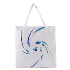 Blue Twist Grocery Tote Bag by Valentinaart