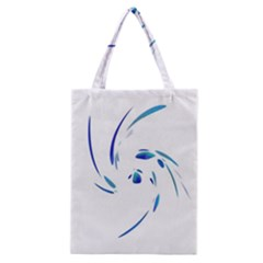Blue Twist Classic Tote Bag by Valentinaart
