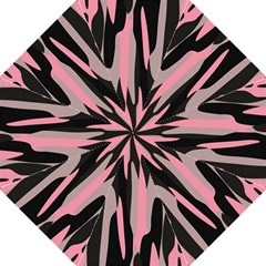 Pink And Black Camouflage Abstract 2 Straight Umbrellas by TRENDYcouture