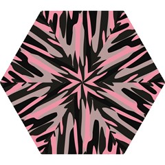 Pink And Black Camouflage Abstract 2 Mini Folding Umbrellas by TRENDYcouture