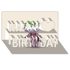 Suicide Clown Happy Birthday 3d Greeting Card (8x4)