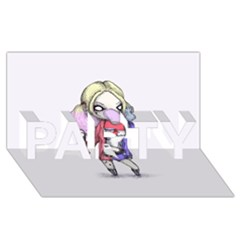 Suicide Harley Party 3d Greeting Card (8x4)  by lvbart