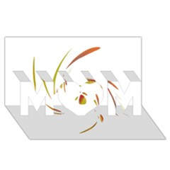 Orange Twist Mom 3d Greeting Card (8x4)