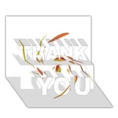 Orange Twist Thank You 3d Greeting Card (7x5)  by Valentinaart