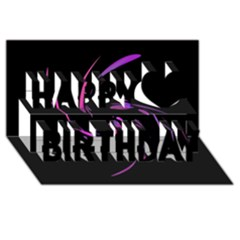 Purple Twist Happy Birthday 3d Greeting Card (8x4)  by Valentinaart