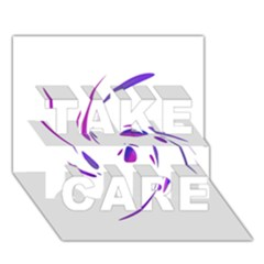 Purple Twist Take Care 3d Greeting Card (7x5)  by Valentinaart