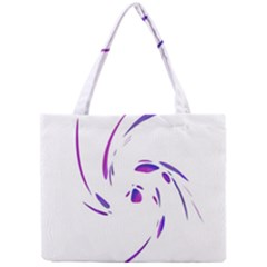 Purple Twist Mini Tote Bag by Valentinaart