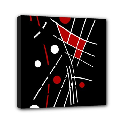 Artistic Abstraction Mini Canvas 6  X 6  by Valentinaart