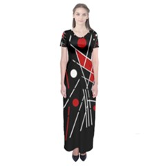 Artistic Abstraction Short Sleeve Maxi Dress by Valentinaart