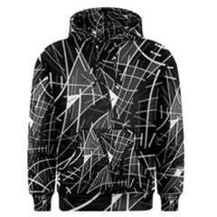 Gray Abstraction Men s Pullover Hoodie by Valentinaart