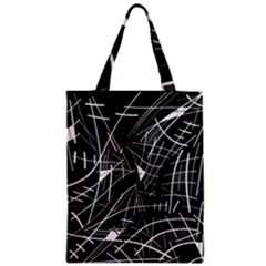 Gray Abstraction Zipper Classic Tote Bag by Valentinaart