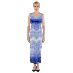 Tie Dye Indigo Fitted Maxi Dress by olgart