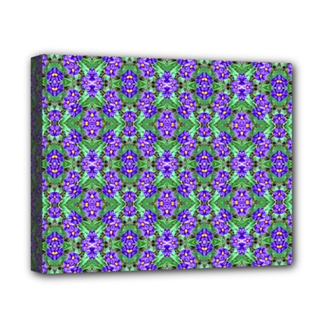 Pretty Purple Flowers Pattern Canvas 10  X 8  by BrightVibesDesign