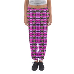 Pretty Pink Flower Pattern Women s Jogger Sweatpants by BrightVibesDesign