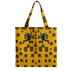 Disco Dancing In The  Tribal Nature  Zipper Grocery Tote Bag by pepitasart