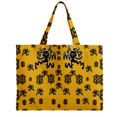 Disco Dancing In The  Tribal Nature  Zipper Mini Tote Bag by pepitasart