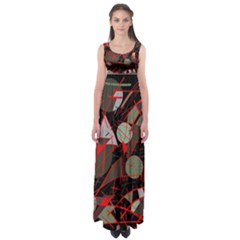 Artistic Abstraction Empire Waist Maxi Dress by Valentinaart