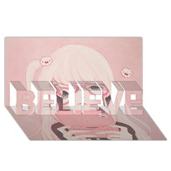 Gamegirl Girl Believe 3d Greeting Card (8x4)  by kaoruhasegawa