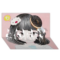 Maybe March<3 Sorry 3d Greeting Card (8x4)  by kaoruhasegawa