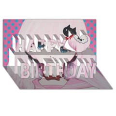 Sweet Tuesday Happy Birthday 3d Greeting Card (8x4)  by kaoruhasegawa