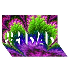 Amazing Special Fractal 25c #1 Dad 3d Greeting Card (8x4)  by Fractalworld