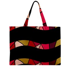 Abstract Waves Zipper Mini Tote Bag by Valentinaart