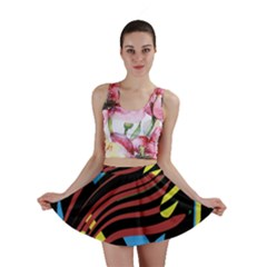 Optimistic Abstraction Mini Skirt by Valentinaart