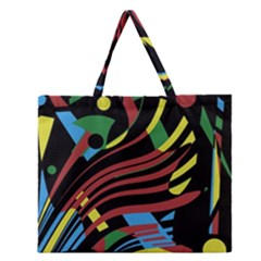 Optimistic Abstraction Zipper Large Tote Bag by Valentinaart