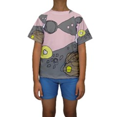 Decorative Abstraction Kid s Short Sleeve Swimwear by Valentinaart