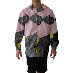 Decorative Abstraction Hooded Wind Breaker (kids) by Valentinaart