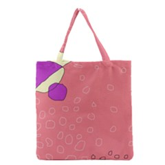 Pink Abstraction Grocery Tote Bag by Valentinaart