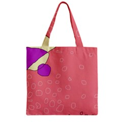 Pink Abstraction Zipper Grocery Tote Bag