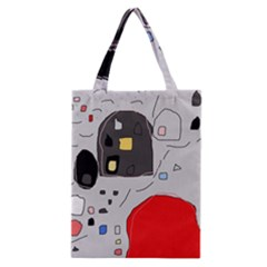Playful Abstraction Classic Tote Bag by Valentinaart