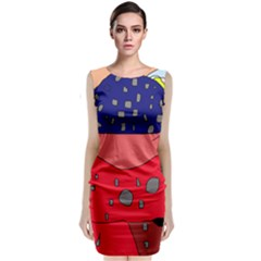 Playful Abstraction Classic Sleeveless Midi Dress by Valentinaart