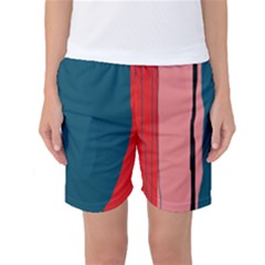 Decorative Lines Women s Basketball Shorts by Valentinaart